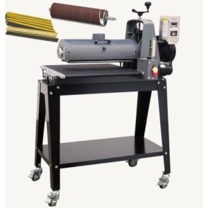 SUPMX-219383, SUPERMAX 19-38 BRUSH/DRUM COMBO SANDER, 110V, 1-3/4HP, WITH OPEN STAND AND ALUMINUM DRUM ASSEMBLY