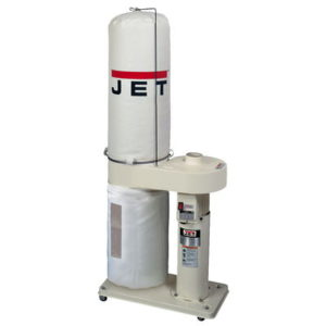 708642BK Jet DC-650 Dust Collector with 30 Micron Filter Bags, 1HP, 115/230V