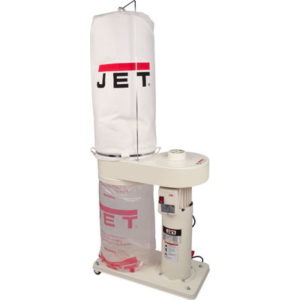 708642MK Jet DC-650 Dust Collector with 5 Micron Filter Bags, 1HP, 115/230V