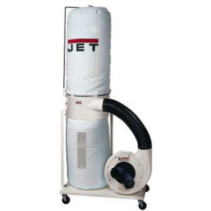 708657K Jet DC-1100VX-BK Dust Collector with 30 Micron Bag Filter Kit, 1.5HP, 115/230V