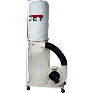 708658K Jet DC-1100VX-5M Dust Collector with 5 Micron Bag Filter Kit, 1.5HP, 115/230V
